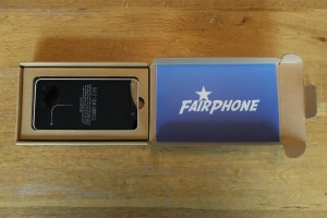 Fairphone in doosje