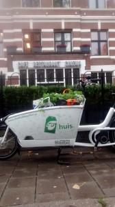 Plukspullen opgehaald zonder auto en op de fiets. Cargobike zoals bedoeld